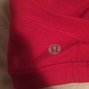 lululemon athletica Tops - Lululemon red sports bra sz 4 59578